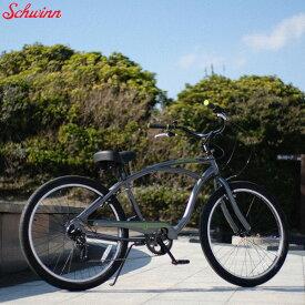 "SCHWINN 2019 シュウィン""S7"" 26インチ ビーチクルーザー アッシュグレー 自転車"