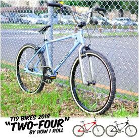 """【10%OFF】T19×HOW I ROLL """"TWO FOUR"""" 24インチ オールドBMX 3色バリ 自転車"""