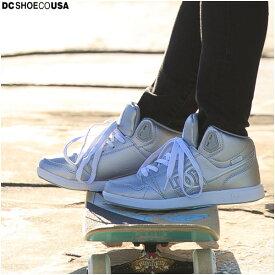 【値下げしました!】DC ディーシー ハイカットスニーカー レディース ホワイト ダンス スケート DC SHOES正規販売店