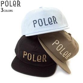 【マラソン限定 P最大43.5倍】POLER ポーラー キャップ 帽子 メンズ レディース スナップバック アウトドア FURRY FONT SNAPBACK アイコンロゴ 正規販売店