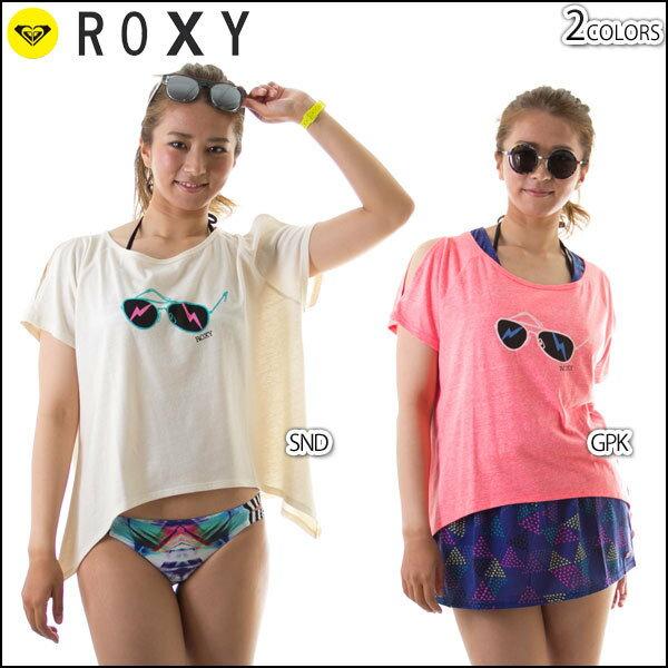 ROXY ロキシー Tシャツ サングラスプリント 半袖 肩スリッド DANCE OFF TEE レディース 正規販売店
