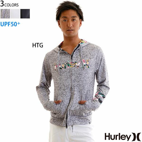 Hurley メンズ ラッシュガード 花柄 パーカー UPF+50 ボタニカル OPEN HOOD O&O ハーレー正規販売店