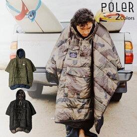 【マラソン限定 P最大43.5倍】POLER リバーシブル ポンチョ アウトドア キャンプ 寝袋 寝具