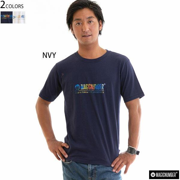 【値下げしました!SALE】MAGIC NUMBER マジックナンバー メンズ Tシャツ 半袖 トップス ロゴプリント 正規販売店