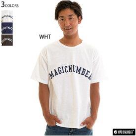 【値下げしました!】MAGICNUMBER マジックナンバー メンズ Tシャツ ルーズフィット ロゴ 半袖 88Cotton ArchLogo Tee