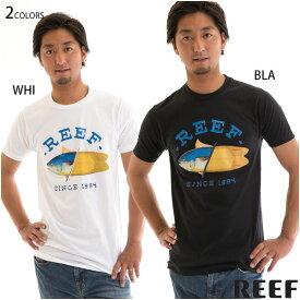 【値下げしました!】REEF メンズ Tシャツ 半袖 トップス スリムフィット SWIM TEE フィッシュ柄 リーフ正規販売店