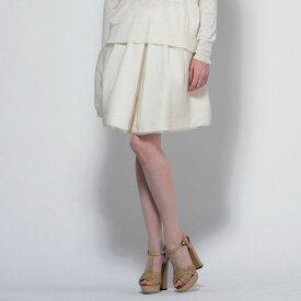 エリカ カヴァリーニ セミクチュール (ERIKA CAVALLINI semi-couture) ミニスカート ボックスプリーツ アイボリー e4ee00984100 レディース春夏 送料無料 【正規取扱】