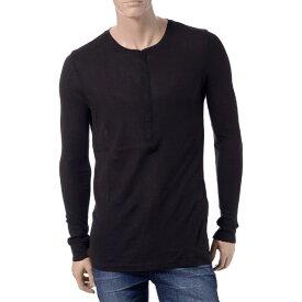 ブラックデニム (blkdnm) ヘンリーネックTシャツ ブラックmtc15501bJ.Lindeberg 2016SS メンズ春夏新作 送料無料 正規取扱