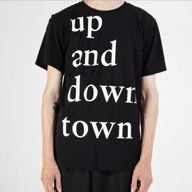 エチュード (etudes) up and downtown Tシャツ コットン ブラック6se08112page up and downtown 2016SS メンズ春夏新作 10,800円以上購入で送料無料 正規取扱