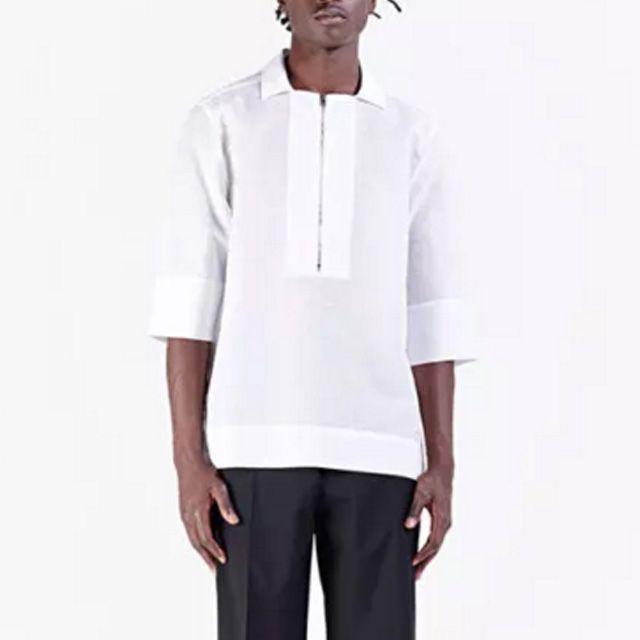 エチュード (etudes) 半袖ロングシャツ コットンリネン ホワイト6se0815AREA SHIRT WHITE 2016SS メンズ春夏新作 送料無料 正規取扱