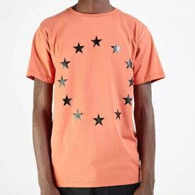 エチュード (etudes) スタープリントTシャツ コットン オレンジ6se0851PAGE EUROPA BRICK 2016SS メンズ春夏新作 10,800円以上購入で送料無料 正規取扱