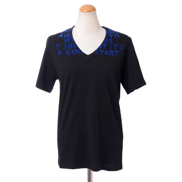 メゾン マルジェラ (Maison Margiela) エイズTシャツ コットン ブラック・ブルー132048541963 2016AW レディース秋冬新作 送料無料 正規取扱