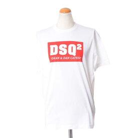 ディースクエアード (Dsquared2) DSQ2ロゴ入りTシャツ コットンジャージー ホワイトs72gd0080100 2018SS レディース春夏新作 送料無料 正規取扱