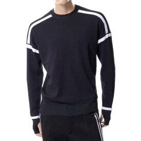 ブラックバレットバイニールバレット (BLACKBARRETT BY NEIL BARRETT) セーター ブラックxma291blkwht メンズ 10,800円以上購入で送料無料 正規取扱