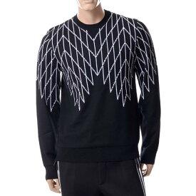 ブラックバレットバイニールバレット (BLACKBARRETT BY NEIL BARRETT) セーター ブラックxma293blkwht メンズ 3,980円以上購入で送料無料 正規取扱