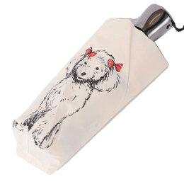ギドゥジャン(Guydejean)犬プリント折畳傘ポリエステル(撥水加工)アイボリー