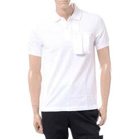 ラフシモンズフレッドペリー (Raf Simons Fred Perry) スペースポケットポロシャツ コットン ホワイトsm5131100 2019SS メンズ春夏新作 送料無料 正規取扱