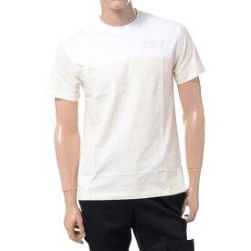 ラフシモンズフレッドペリー (Raf Simons Fred Perry) イニシャル刺繍Tシャツ コットン クリームsm5134b49 2019SS メンズ春夏新作 10,800円以上送料無料 正規取扱