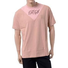 ラフシモンズ (RAF SIMONS) VインサートTシャツ コットン ミスティーローズsm5135h81 2019SS メンズ春夏新作 10,800円以上送料無料 正規取扱