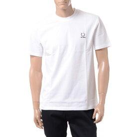 ラフシモンズ (RAF SIMONS) フレッドぺリー FRED PERRY Tシャツ コットン ホワイトsm7059100 2019AW メンズ秋冬新作 送料無料 正規取扱