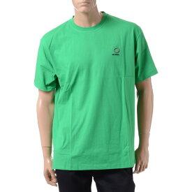 ラフシモンズ (RAF SIMONS) フレッドぺリー FRED PERRY バックプリントTシャツ コットン グリーンsm7061824 2019AW メンズ秋冬新作 送料無料 正規取扱