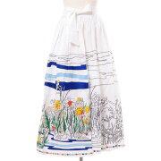 ミー(Mii)刺繍ロングスカートコットンホワイト