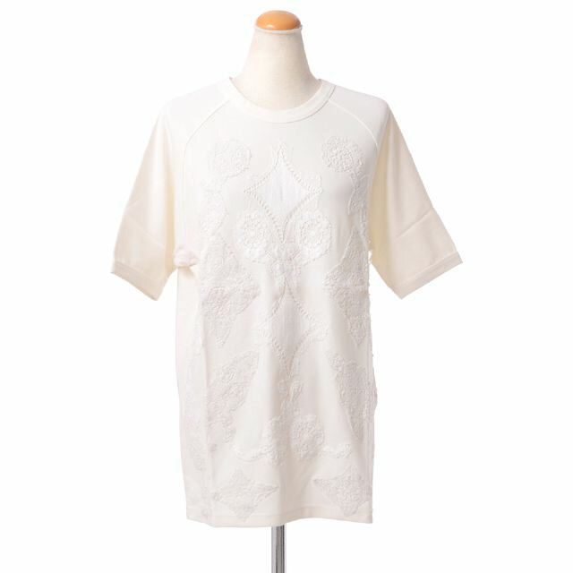 アーメン (AMEN) 刺繍半袖Tシャツ コットン ホワイト ams13218081 半袖Tシャツ,コットンカットソー,刺繍,デザインTシャツ,カジュアル 送料無料 【正規取扱】