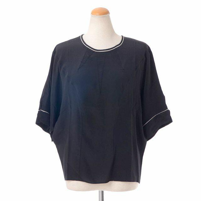 マルニ (Marni) ドルマンシルクブラウス ブラック 26a00ta063s13 シャツ,黒,着物風, 送料無料 【正規取扱】