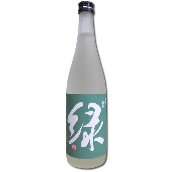 緑川(緑)雪洞貯蔵酒 純米吟醸 720ml(2018年限定酒)宅配用の破損防止箱代も無料です。緑川酒造 日本酒 純米吟醸酒 新潟 お酒