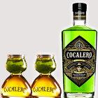 (送料無料)COCALERO コカレロ (ボムグラス2個付き ) 29度 700ml  コカの葉 リキュール 17種のハーブ使用 コカレロ ボムグラス 2個付き