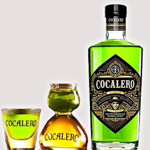 (送料無料)COCALERO グラスセット コカレロ 29度 700ml ボムグラス1個ショットグラス1個 コカの葉 リキュール 17種のハーブ使用