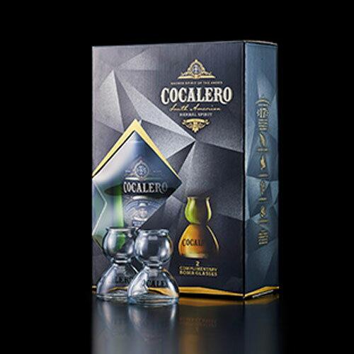 ポイント2倍(送料無料)COCALERO in BOX コカレロ イン ボックス (ボムグラス2個付き ギフトボックス入り) 29度 700ml コカの葉 リキュール 17種のハーブ使用