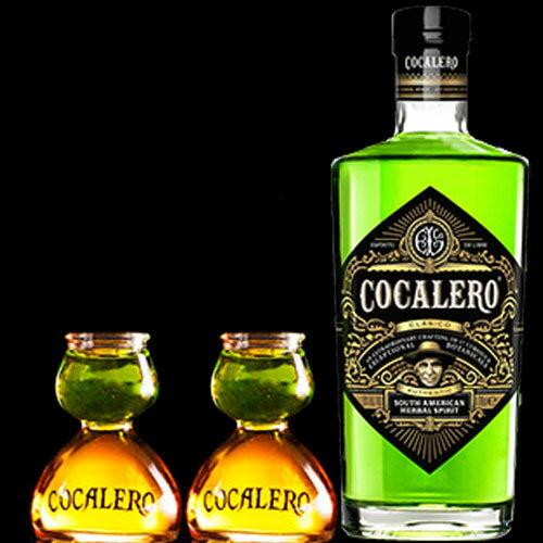 ポイント5倍(送料無料)COCALERO コカレロ (ボムグラス2個付き ) 29度 700ml  コカの葉 リキュール 17種のハーブ使用 コカレロ ボムグラス 2個付き