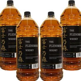 (限定特価)富士乃森 ザ フジノモリ ウィスキー【THE FUJINOMORI WHISKY】4L 4本セット 37度 国産 ブレンデット ウイスキー 4ℓ