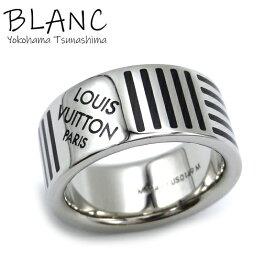 【中古】ルイ ヴィトン バーグ ダミエカラーズ リング 約19号 Mサイズ メタル シルバー 指輪 M62493 Louis Vuitton 横浜BLANC