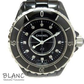 【中古】シャネル 腕時計 J12 H1625 33mm セラミック×ステンレス ブラック×12Pダイヤモンド文字盤 レディース 横浜BLANC