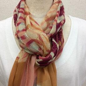 日本製シルク100%横浜スカーフ 職人技が光る逸品 横浜でプリントされたストール 対象アニマル柄 ワイン