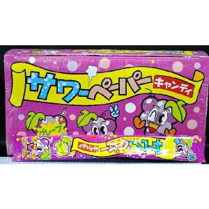 やおきん サワーペーパーキャンディ グレープ味 【36袋入り】