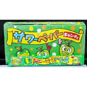 やおきん サワーペーパーキャンディ アップル味 【36袋入り】