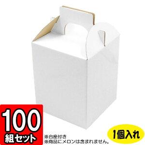 メロン箱 白つやあり【1個入れ】【R】 100セット 【メロン用 メロンの箱 フルーツ用 フルーツギフト用 果物用 ギフトボックス 箱 メロン パッケージ フルーツ箱 果物箱 贈答用 化粧箱 青果 gif