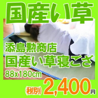 Not grass soejima Isao Shoten (soejima Isao) adults for 寝ござ ( Lee grass and sheets ) single size and stock. domestic not grass 100% mats (GOZA)-寝茣蓙 (ねござ・ネゴザ) Japan (Japan, Fukuoka, chikugo) brink do cool mats, kneeling pad, putting energy-saving cool
