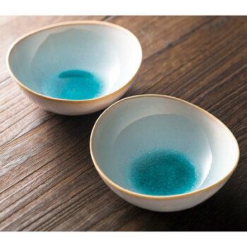 萩焼ソライロペア鉢GA5-43ギフト贈り物内祝御祝お返し挨拶香典仏事粗供養志