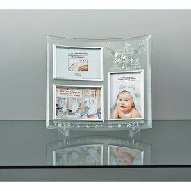 メリーチャーム ガラスフォトフレーム 3窓 GF-03591 写真立て 卓上用 インテリア ギフト プレゼント 内祝 御祝 お返し 挨拶 出産 結婚