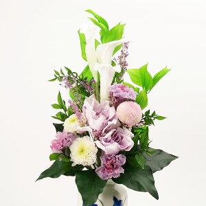 プリザーブドフラワー仏花花器付き総高さ約38cm