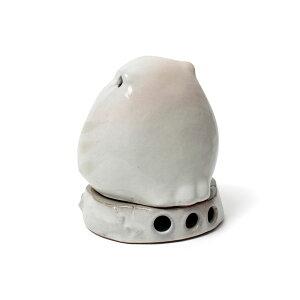 麗香炉ふくろうH120mm、簡易香立付