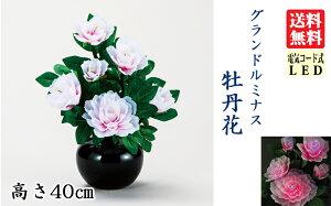 盆提灯蓮華灯グランドルミナス牡丹LED【送料無料】(C05)