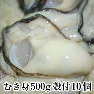 【生牡蠣 広島産 加熱用 むき身500gと殻付き10個セット】 広島牡蠣生産者米田海産が育てた牡蠣 広島 お歳暮にも人気の商品です