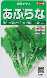 【和種ナタネ】あぶらな 【サカタ交配】(10ml)野菜種[秋まき]