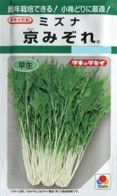 【ミズナ】京みぞれ 【タキイ種苗】(6ml)野菜種/水菜[春まき][秋まき]GF
