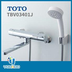 TOTO 浴室用水栓 [TBV03401J] サーモスタット式シャワー水栓 GGシリーズ 壁付タイプ